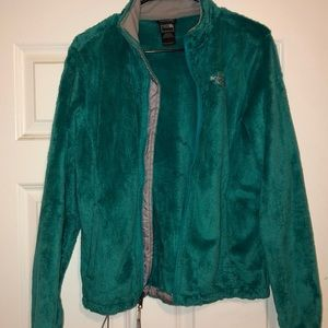 Soft and cozy teal The North Face jacket